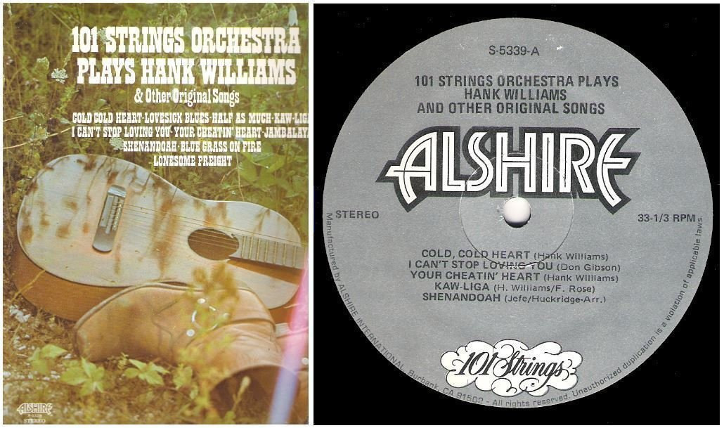 """101 Strings / Plays Hank Williams and Other Original Songs (1976) / Alshire S-5339 (Album, 12"""" Vinyl)"""