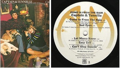 Captain + Tennille, The / Come In From the Rain (1977) / A+M SP-4700 (Album, 12