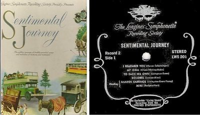 Longines Symphonette / Sentimental Journey / Longines Symphonette Recording Society LWS-201-206 (Album, 12