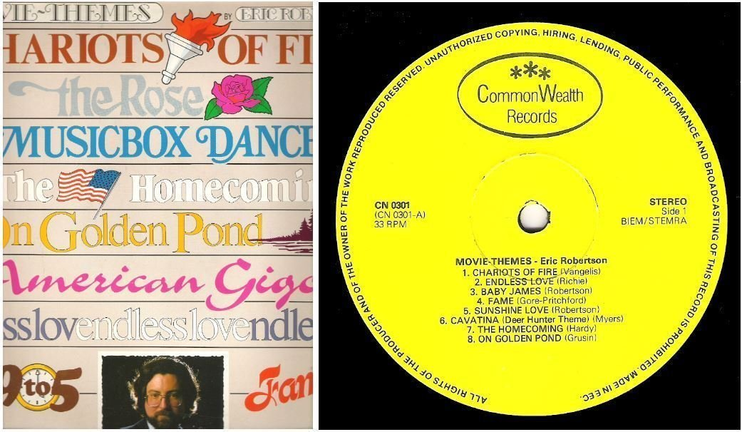 "Robertson, Eric / Movie Themes (1983) / Common Wealth CN-0301 (Album, 12"" Vinyl) / Holland"