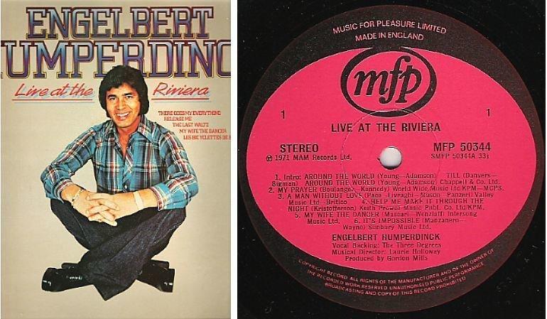"Humperdinck, Engelbert / Live At The Riviera (1971) / Music For Pleasure MFP-50344 (Album, 12"" Vinyl) / England"