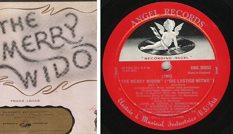 """Ackermann, Otto / The Merry Widow (""""Die Lustige Witwe"""") / Angel 3501 B (Album, 12"""" Vinyl) / 2 LP Box Set"""