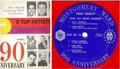 Various Artists / Montgomery Ward 90th Anniversary - 9 Top Artist Sampler (1962) / P.R.I. MW-90 (Album, 12