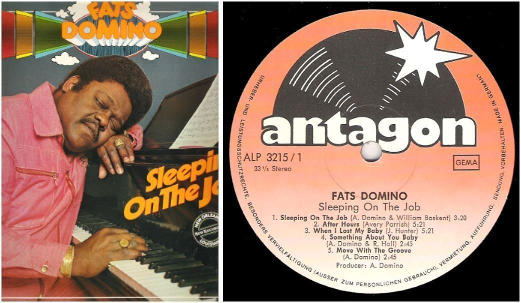 "Domino, Fats / Sleeping On the Job (1978) / Antagon ALP-3215 (Album, 12"" Vinyl) / Germany"