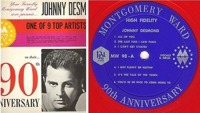 Desmond, Johnny / Montgomery Ward 90th Anniversary - One of 9 Top Artists Series (1962) / P.R.I. MW-98 (Album, 12