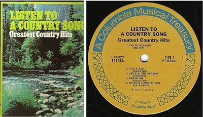 Various Artists / Listen to a Country Song (1975) / Columbia House 3P-6323 (Album, 12