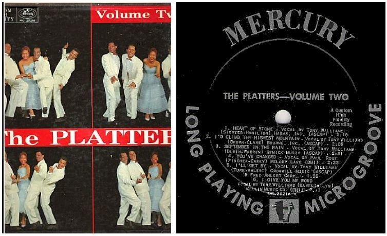 "Platters, The / Volume Two (1956) / Mercury MG 20216 (Album, 12"" Vinyl)"