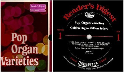 Various Artists / Pop Organ Varieties (1968) / Reader's Digest RDA 46-A (Album, 12