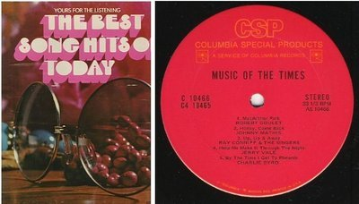 Various Artists / The Best Song Hits of Today (1970's) / Columbia Special Products C4-10465 (Album, 12