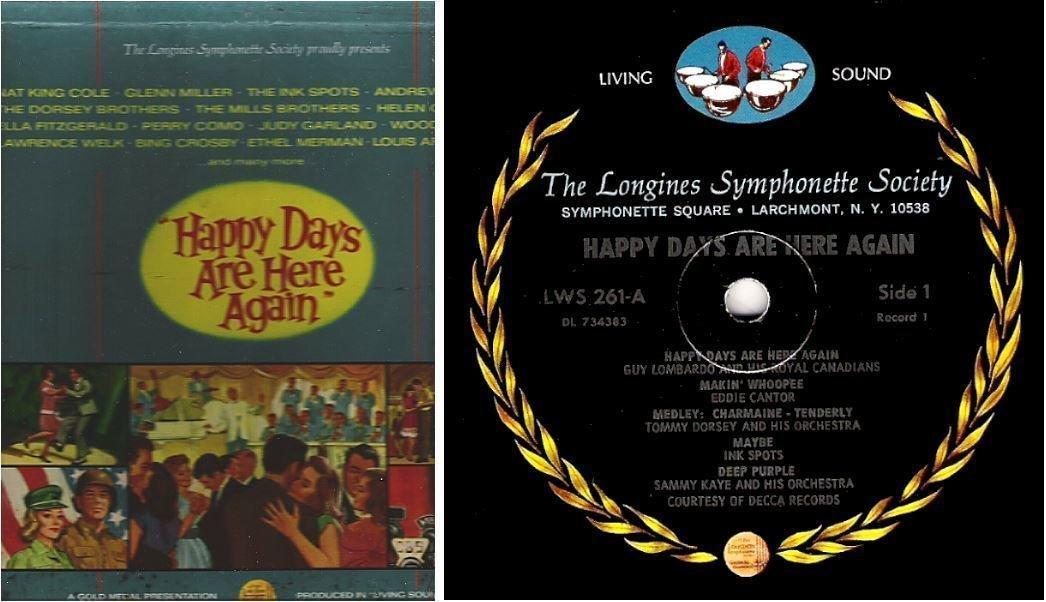 "Various Artists / Happy Days Are Here Again / Longines LWS-261-266 (Album, 12"" Vinyl) / 6 LP Box Set"