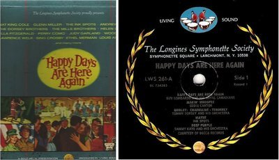 Various Artists / Happy Days Are Here Again / Longines LWS-261-266 (Album, 12