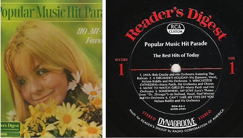 "Various Artists / Popular Music Hit Parade (1968) / Reader's Digest RDA-63-A (Album, 12"" Vinyl) / 9 LP Box Set"