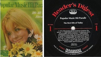 Various Artists / Popular Music Hit Parade (1968) / Reader's Digest RDA-63-A (Album, 12