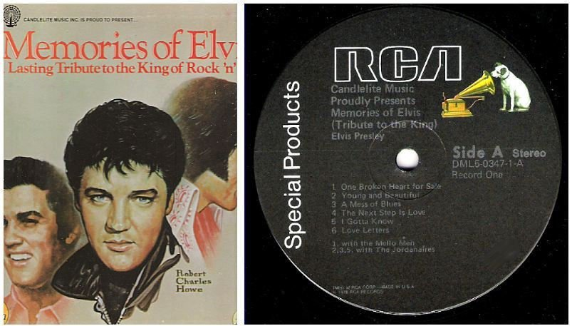 "Presley, Elvis / Memories of Elvis (1978) / RCA Special Products DML5-0347 (Album, 12"" Vinyl) / 5 LP Box Set"