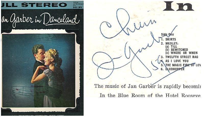 """Garber, Jan / In Danceland (1959) / Decca DL-78867 (Album, 12"""" Vinyl) / Autographed"""