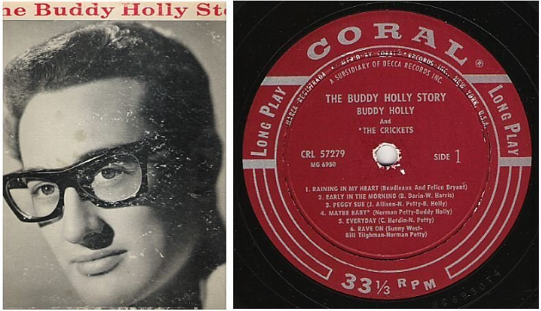 """Holly, Buddy (+ The Crickets) / The Buddy Holly Story (1959) / Coral CRL-57279 (Album, 12"""" Vinyl)"""