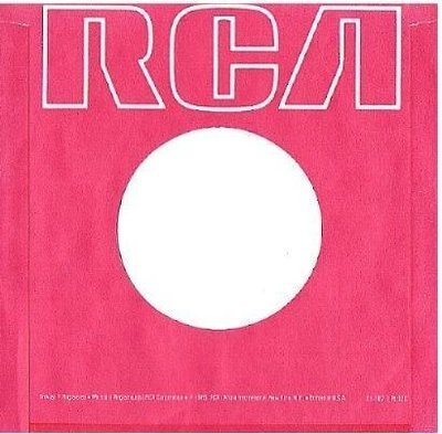 RCA / Red with White Lettering Across Top (1985) / Red-White (Record Company Sleeve, 7