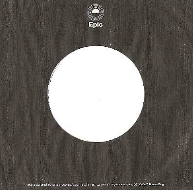 Epic / Logo at Top / Black-White (Record Company Sleeve, 7
