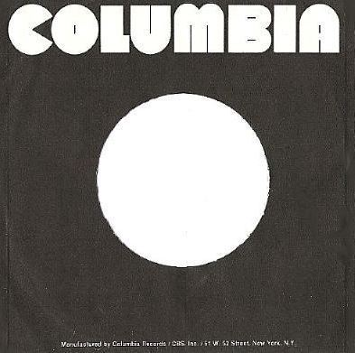 Columbia / Black with White Lettering Across Top (Record Company Sleeve, 7