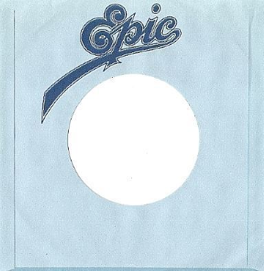 Epic / Logo at Top / Light Blue-Dark Blue-White (Record Company Sleeve, 7