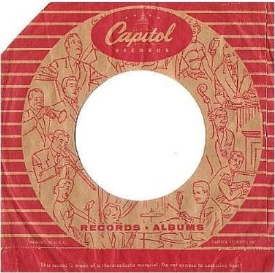 Capitol / Records - Albums / Capitol Dome Style Logo at Top / Tan-Red (Record Company Sleeve, 7