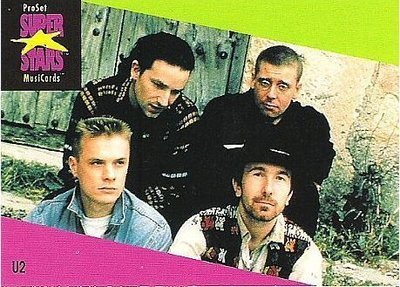 U2 / ProSet SuperStars MusiCards #101 | Music Trading Card (1991)