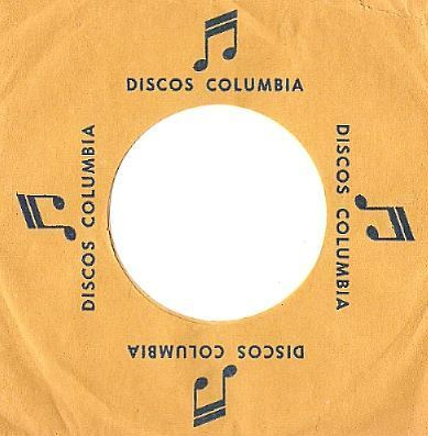 Columbia / Discos Columbia / Dark Yellow-Dark Blue (Record Company Sleeve, 7