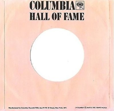 Columbia / Hall of Fame / Pink-Black / Glossy (Record Company Sleeve, 7