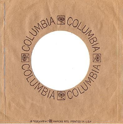 Columbia / Logos Form a Circle / Tan-Brown (Record Company Sleeve, 7