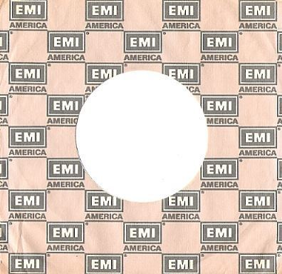EMI America / Logo Shown in Repeating Pattern / Light Grey-Grey-White (Record Company Sleeve, 7