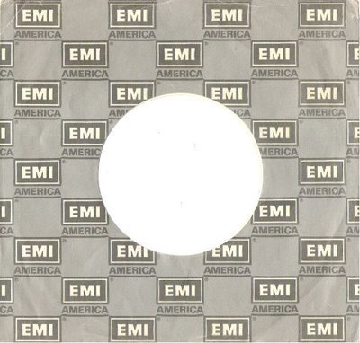EMI America / Logo Shown in Repeating Pattern / Silver-Gray-White / Glossy (Record Company Sleeve, 7