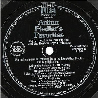 Fiedler, Arthur (+ The Boston Pops) / Arthur Fiedler's Favorites (1979) / Time Life/Eva-Tone FIE-5 (Flexi-Disc)