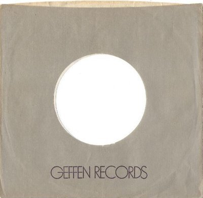 Geffen / Gray, Purple, White (1980's) / Thin Text (Record Company Sleeve, 7