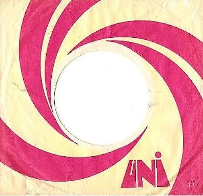 Uni / Yellow, Purple, White - Swirl Design / Uni Logo Near Bottom (Record Company Sleeve, 7