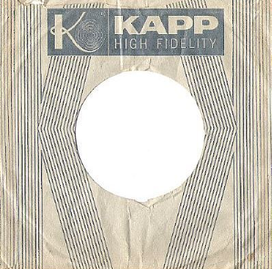 Kapp / The Fabulous Years in Music / Each Side is Different / White-Dark Blue (Record Company Sleeve, 7