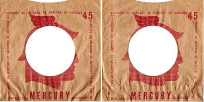 Mercury / Tan-Red / Mercury Head Artwork in Center (Record Company Sleeve, 7