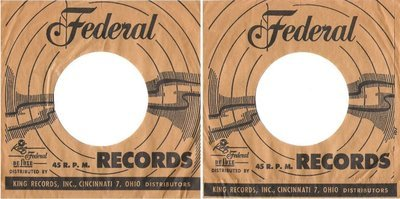 Federal / Tan-Black / Federal 45 R.P.M. Records (Record Company Sleeve, 7
