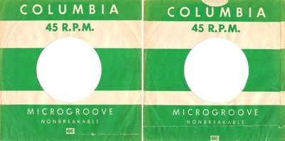 Columbia / Microgroove / Green-White / (Record Company Sleeve, 7