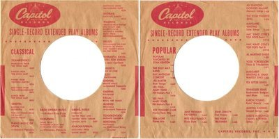Capitol / Single-Record Extended Play Albums (Record Company Sleeve, 7