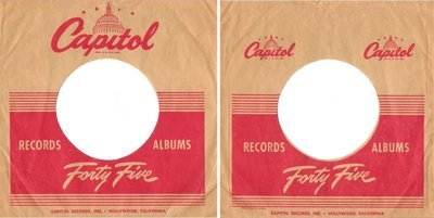 Capitol / Forty Five / Tan-Red (Record Company Sleeve, 7