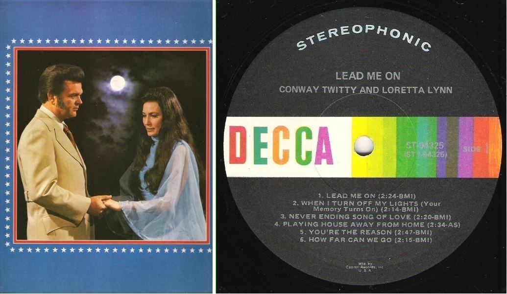 """Twitty, Conway (+ Loretta Lynn) / Lead Me On (1971) / Decca ST-94325 (Album, 12"""" Vinyl)"""
