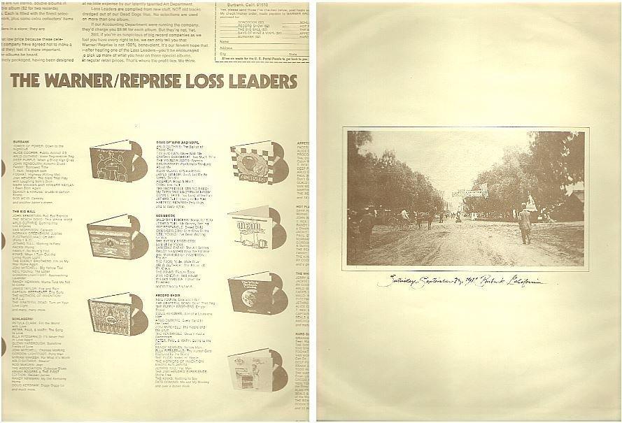 "Warner Bros. / The Warner-Reprise Loss Leaders (1974) (Record Company Inner Sleeve, 12"")"
