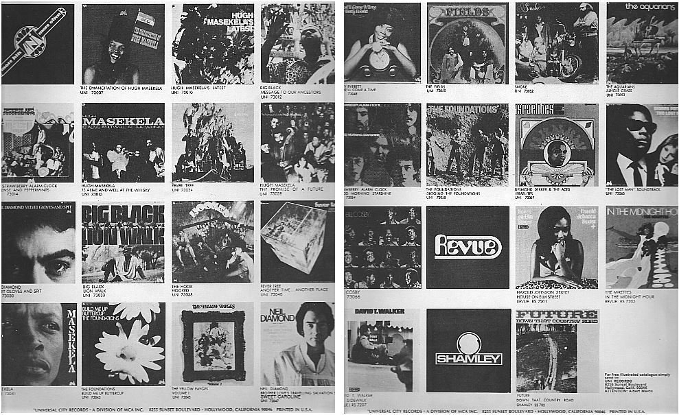 "Uni / Shows 30 LP's - White and Black (Record Company Inner Sleeve, 12"")"