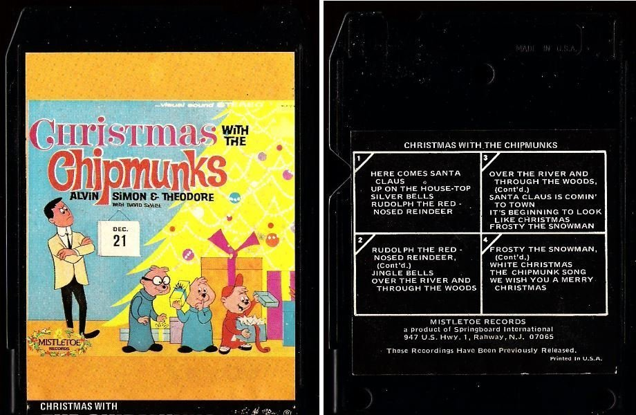 Chipmunks, The / Christmas With The Chipmunks (1975) / Mistletoe 8T-MLP-1216 (8-Track Tape)