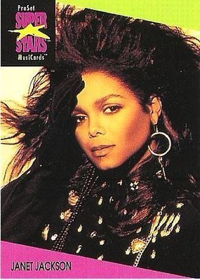 Jackson, Janet / ProSet SuperStars MusiCards (1991) / Card #56 (Music Card)