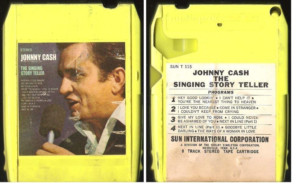Cash, Johnny / The Singing Story Teller (1970) / Sun T-115 (8-Track Tape)