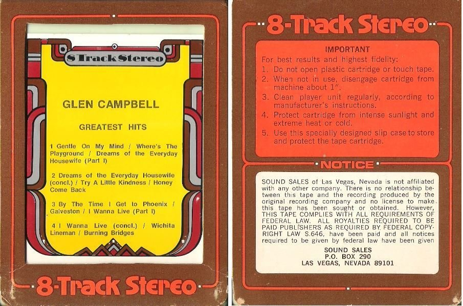 Campbell, Glen / Greatest Hits (1971) / Sound Sales 442 (8-Track Tape)