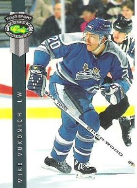 Vukonich, Mike / Phoenix Roadrunners (1992) / Classic #219 (Hockey Card) / Four Sport Draft Pick Collection