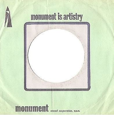Monument / Monument Is Artistry / Light Green, Dark Blue, Pink (Record Company Sleeve, 7