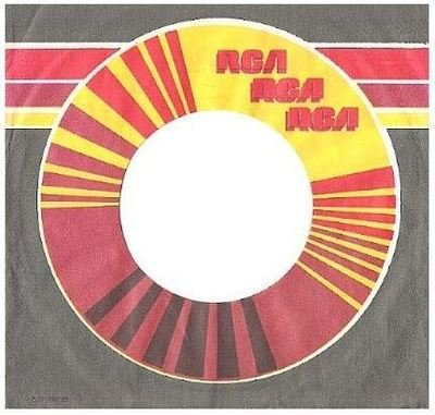 RCA / Logo Repeated 3 Times (1974) / Grey, Orange, Red, Maroon, White, Yellow (Record Company Sleeve, 7